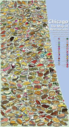 Chicago Food Map - sweeeet