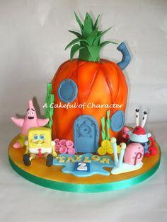 Spongebob Pineapple with Spongebob sugar models