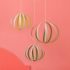 Oak-veneer orbs - a really simple yet make-a-statement project that would look great on the front porch!