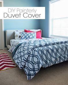 DIY Painterly Duvet Cover