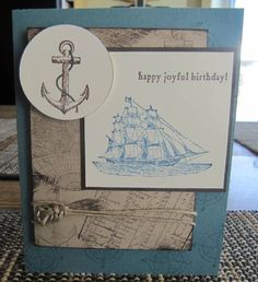Masculine Birthday by cardmaker2 - Cards and Paper Crafts at Splitcoaststampers
