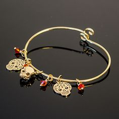 Jewelry Tutorial: Smiling Sugar Skulls Bracelet