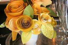 coiled paper flowers