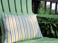 How to Sew a Simple Envelope Pillow (in 20... or 40 minutes?) ~ Madigan Made { simple DIY ideas }