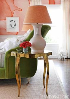 Bedside table from Stephanie Odegard.
