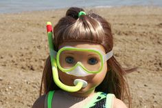 Free tutorial on how to make a snorkel for your American Girl Doll