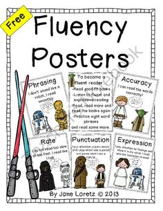 Love these FREE fluency posters!
