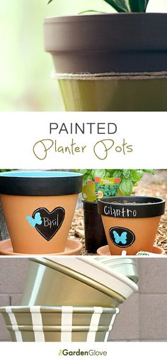 Painted Planter Pots • Lots of great Ideas & Tutorials!