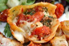 Stuffed Shells with Ricotta, Spinach, & Portobello Mushrooms #vegetarian #pasta #spinach #mushroom