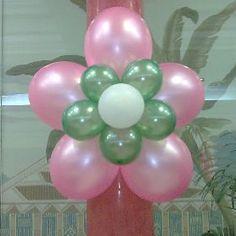 decoracion con flores de globos. #balloon #flower #decor
