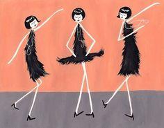 1920s Flappers // 4x6 art print // Eloise Ramona by flapperdoodle, $5.00