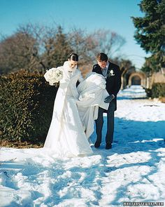 "Ambiance~  To stretch your budget, have your wedding in the ""off season"" such as winter.  It can be beautiful and you can use seasonal decor already at your venue~  (Photo Credit: Marthastewart.com)  (410) 819-0046  www.maryannjudy.com"