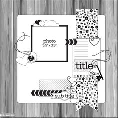 Scrapbook  Cards Today - Pagemaps Sketches by Becky Fleck