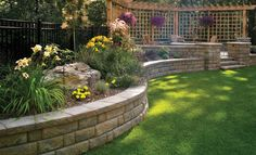 Brad and I are thinking of a curvy stone retaining wall for our odd shaped lot.
