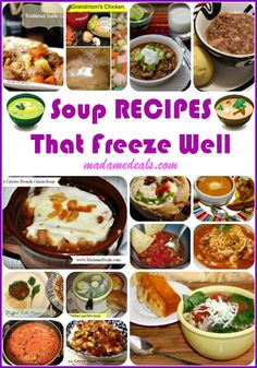 Delicious and easy to make Soups that Freeze Well #recipes