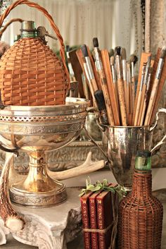 Silver Urns for Supplies