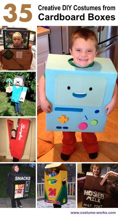 Creative DIY Costumes from Cardboard Boxes
