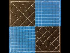 3. How to Free Motion Quilt a 4 Patch Block with Gridlines - YouTube