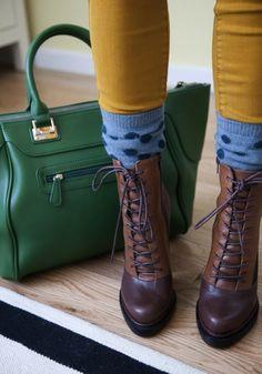 polka dot socks and boots
