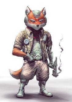 Fox, Star Fox artwork by Oscar Römer