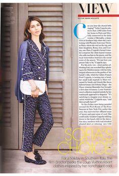 Sofia Coppola in Louis Vuitton PJ's!