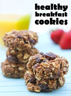 Healthy Breakfast Cookies from pipandebby.com