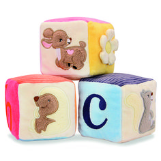 Organic cotton alphabet letters! From: Zoo-themed Toys Your Baby Will Love