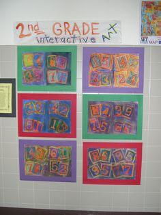 2nd Grade Art/Math lesson jasper john, art lesson