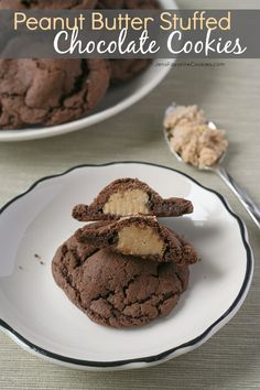 Peanut Butter Stuffed Chocolate Cookies from Jen's Favorite Cookies