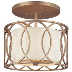 Traditional beauty never goes out of style. A rich two-tone silver gold finish ceiling light is like a classic piece of jewelry for your home. Available at http://www.lampsplus.com/products/sauzario-12-and-one-quarter-inch-wide-semi-flushmount-ceiling-light__h6813.html