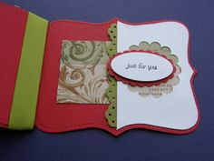 Stamping Joy: A top note Gift card for Christmas