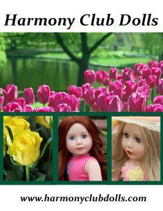 18 inch Dolls. Fits American Girl Doll Fashion. www.harmonyclubdolls.com