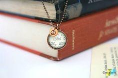 Librarian Book Lover Dewey Decimal Pewter Pendant MADE by ecokaren, $29.00