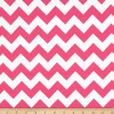 Riley Blake Flannel Basics Chevron Medium Hot Pink