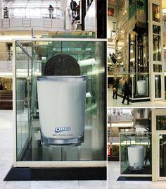 Oreo Elevator Advertisement    ~ Clever Advertising