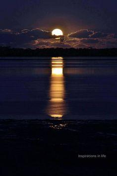 moon, sky, night skies, heaven, sunset