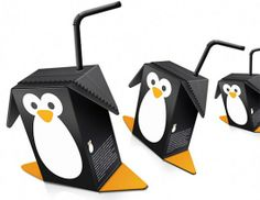 Penguin-shaped juice boxes? This is cool enough to have its own board, but until then...PINNED!
