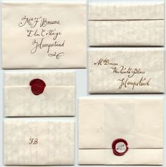 old fashioned wax seal invitations