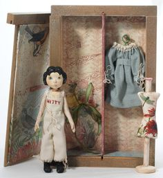 Hitty And Her Wardrobe by Sherry Goshon at The Toy Shoppe