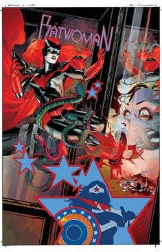 Batwoman12-cover color/logo by JH Williams III, via Flickr