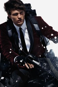 model, simon nessman, men style, winter looks, winter holidays, suit, holiday 2012, men fashion, winter 2012