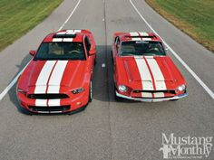 Ford Mustang Shelby GT 500 Dream Shelbys - Mustang Monthly Magazine. Enter to win them both at: http://www.winthemustangs.com.   Double tickets w/ promo code: TP0513M.