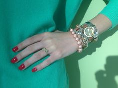 Perfect nails + wrist party.
