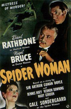 Sherlock Holmes Movies Basil Rathbone | ... Movie Poster Fridge Magnet Sherlock Holmes Spider Woman Basil Rathbone