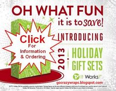 Oh what fun it is to save!  Check our holiday gift set from It Works! Global at https://gocrazywraps.blogspot.com.  #itworks #Christmas work, holiday packag, season, holidays, celebrity fitness, gift set, holiday gifts, christma, the holiday