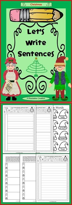 This free Christmas writing pack includes a choice of three different writing pages, corresponding flaps, and a Christmas vocabulary page. (K-6)