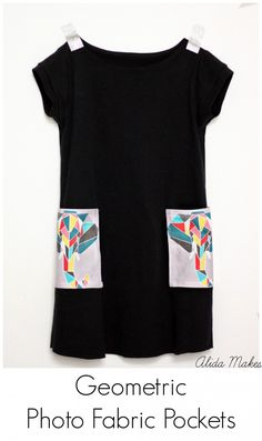 Photo Fabric Pocket Tutorial