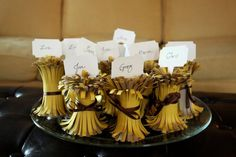 Wheat Sheaves placecards from last Thanksgiving (available at PaperSource)