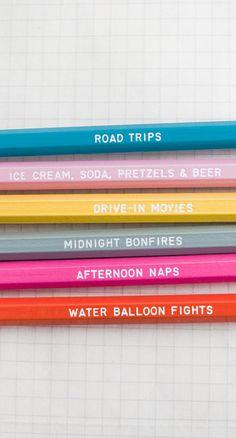 Days of summer - pencil set