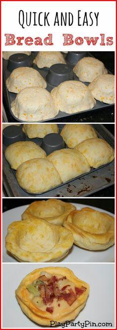 Easy bread bowls